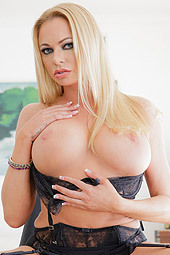 Briana Banks Is Posing In Sexy Black Stockings